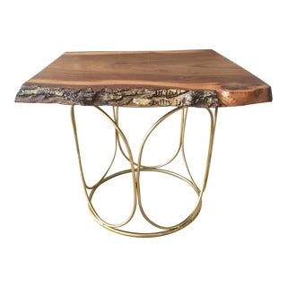 English Elm Pedestal Coffee Table