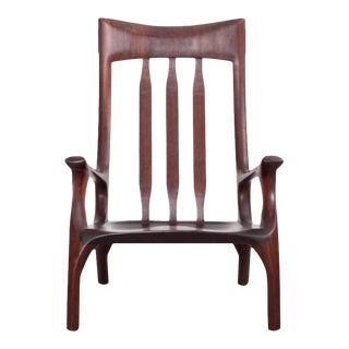 1960s Studio Lounge Chair in Black Walnut