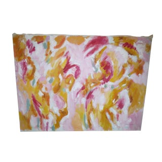Vintage 1970s Pink Abstract by Philip Callahan