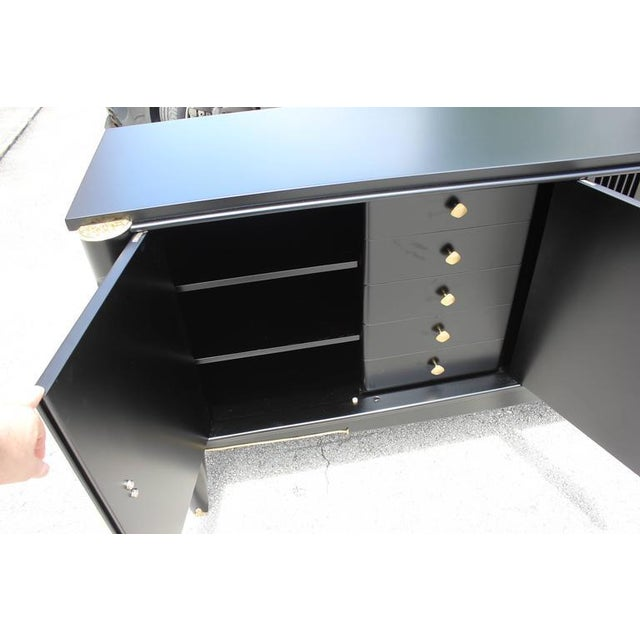 French Art Deco Ebonized Sideboard / Buffet / Bar - Image 5 of 10