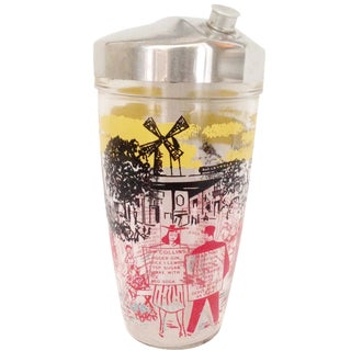 Mid-Century Recipe Cocktail Shaker