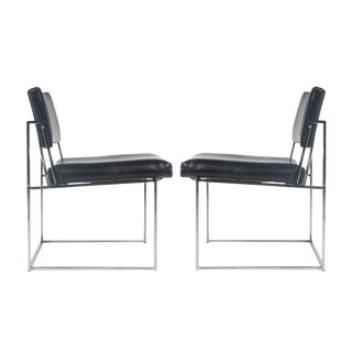 Pair of side chairs by Milo Baughman, circa 1970s