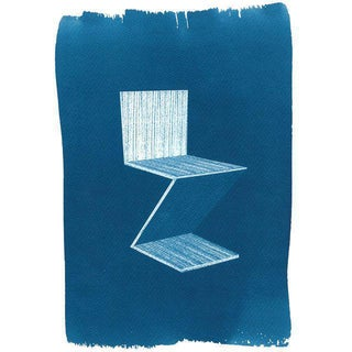 Gerrit Rietveld Zig-Zag Chair Cyanotype Print
