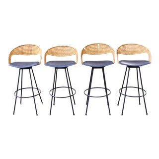 Mid Century Bar Stools Attributed to Arthur Umanoff - 4