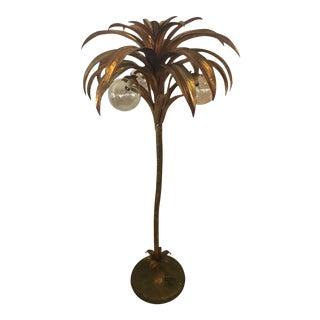Vintage Palm Tree Brass Floor Lamp