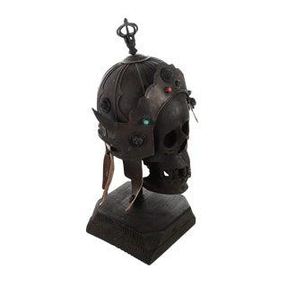 Chinese Bronze Warrior Helmet