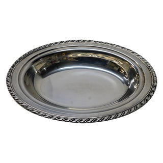 Silver Plated Oval Server Dish