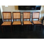 Image of Crate & Barrel Cane Dining Chairs - Set of 4