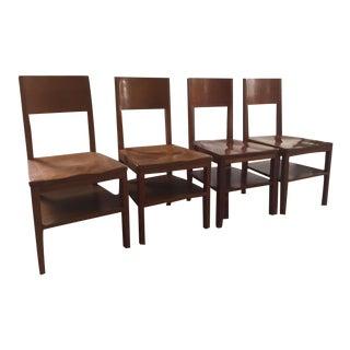 Danish Mid Century School House Chairs - Set of 4