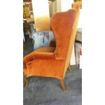 Image of French Louis XV Style Wingback Chairs - Pair