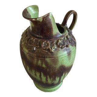 Vintage Drip Glaze Ceramic Pitcher Vase