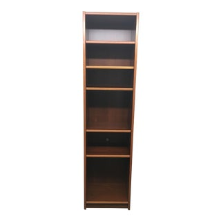 Narrow Teak Veneer Bookcase