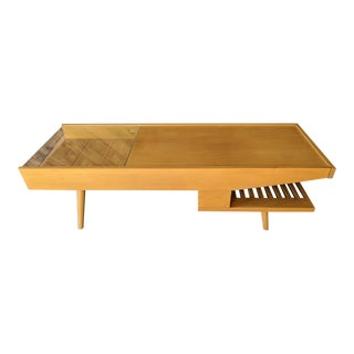 Amazing Mid Century Coffee Warmer Table by Brown Saltman