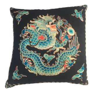 Embroidered Dragon Opera Robe Fragment Pillow