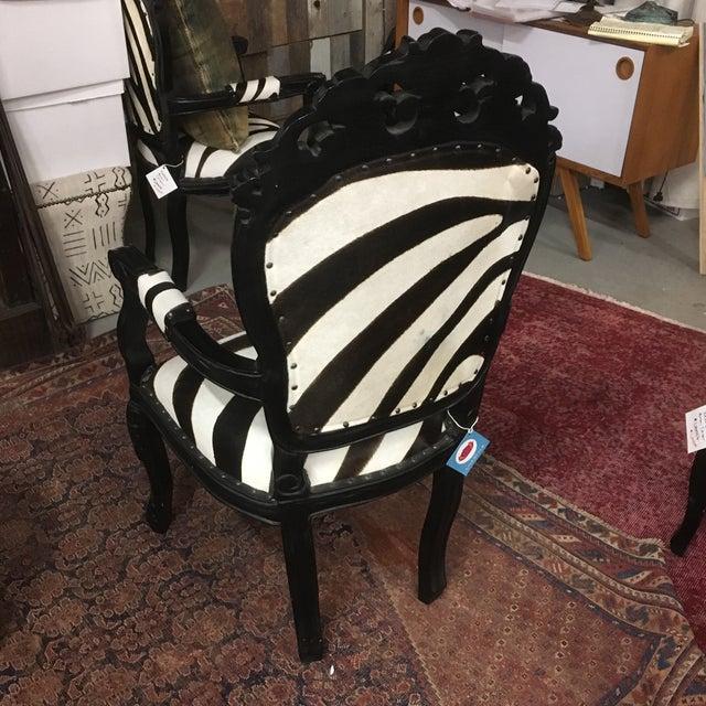 Zebra Arm Chair Chairish