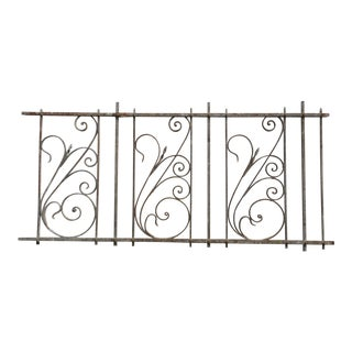 Antique Victorian Iron Gate Window Garden Fence Architectural Salvage