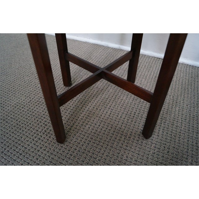 Madison Square Mahogany Chippendale Tables - Pair - Image 6 of 10