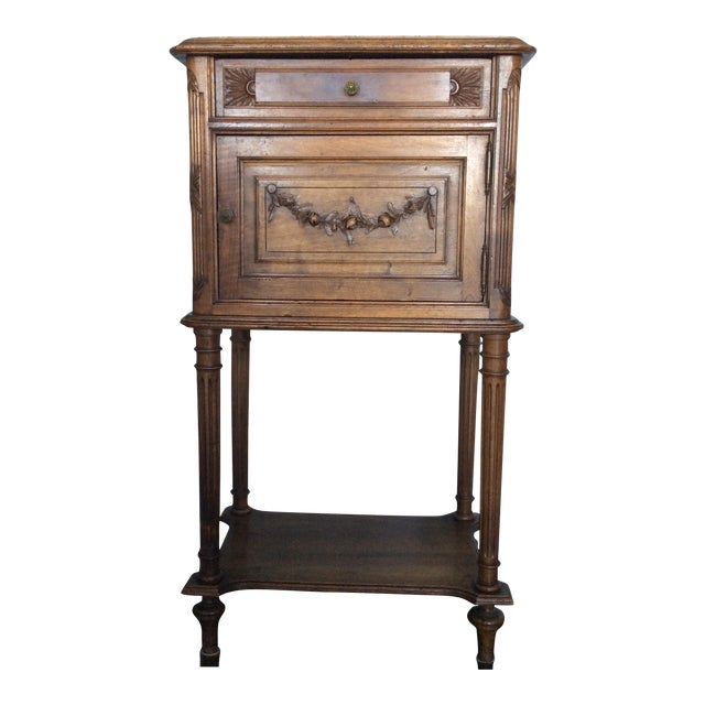 Antique Louis XV Style Nightstand - Image 1 of 5