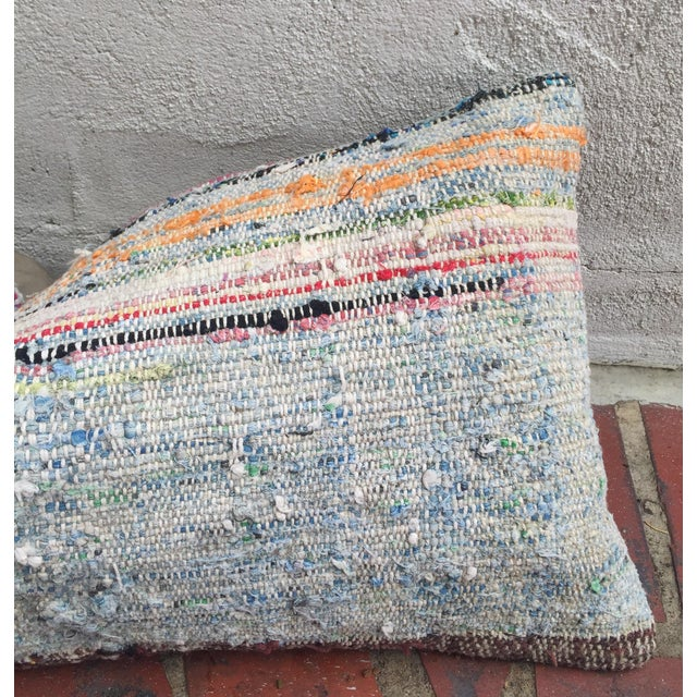 Moroccan Striped Kilim Pillow Cover - Image 11 of 11