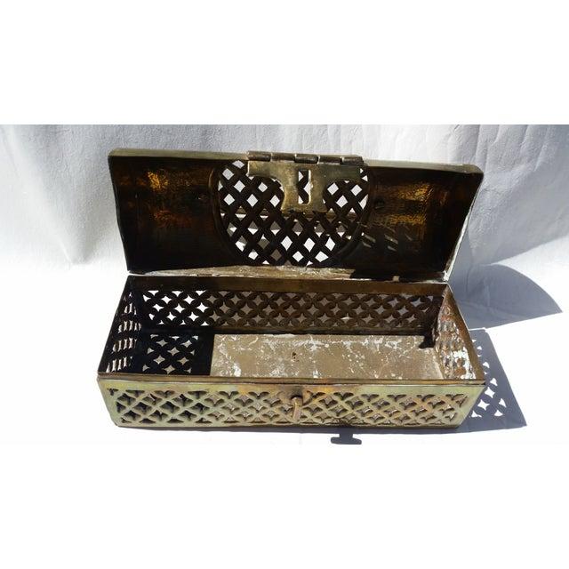Vintage Long Brass Cricket Box - Image 4 of 5