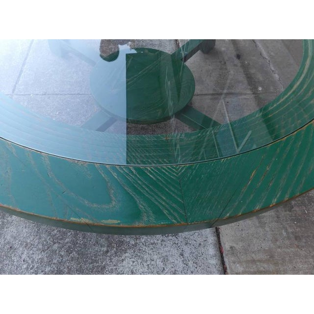Paul Frankl Green Cerused Coffee Table - Image 6 of 6