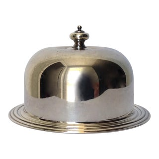 Silverplate Domed Lidded Butter Dish