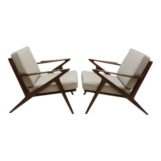"Poul Jensen for Selig ""Z"" Lounge Chairs - Pair"