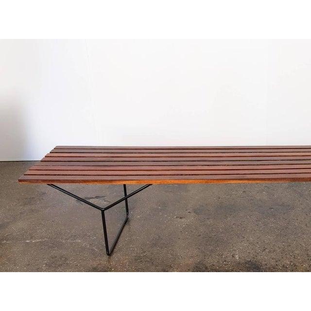 Modern Slat Bench - Image 4 of 7