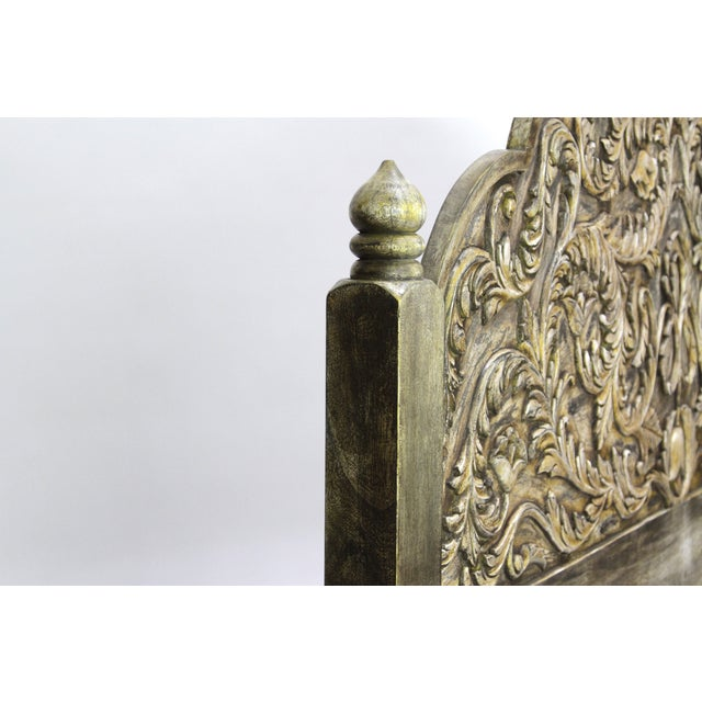 Image of Jarokha Arched Carved Headboard
