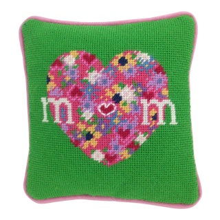 Mom Needlepoint Pillow