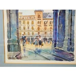 Image of Vibrant Madrid Watercolor Painting by C. Sanchez