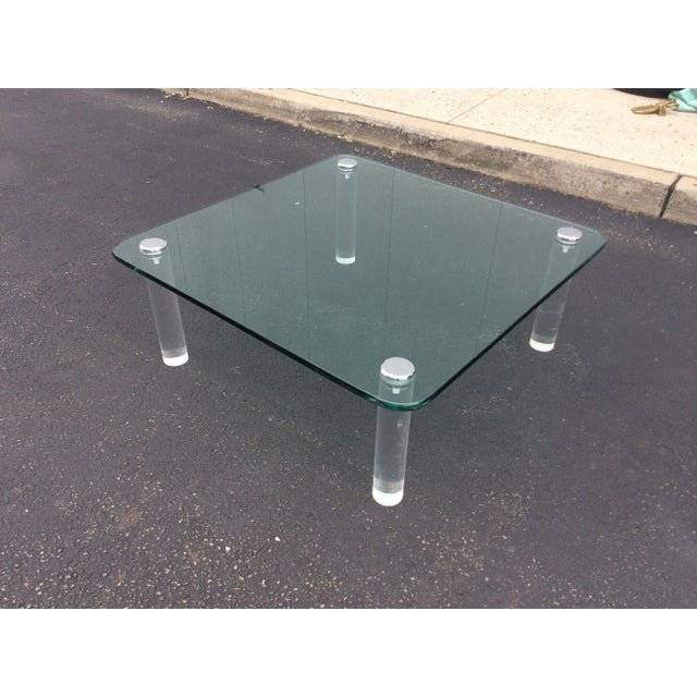 Image of Pace Collection Custom Ordered Lucite Coffee Table