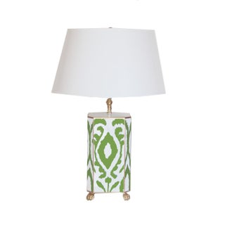Green Ikat Lamp