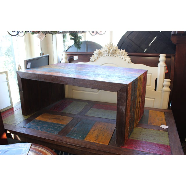 Recycled Wood Coffee Table - Image 3 of 4