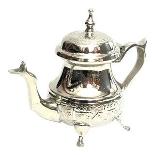 Moroccan Handmade Silver Teapot