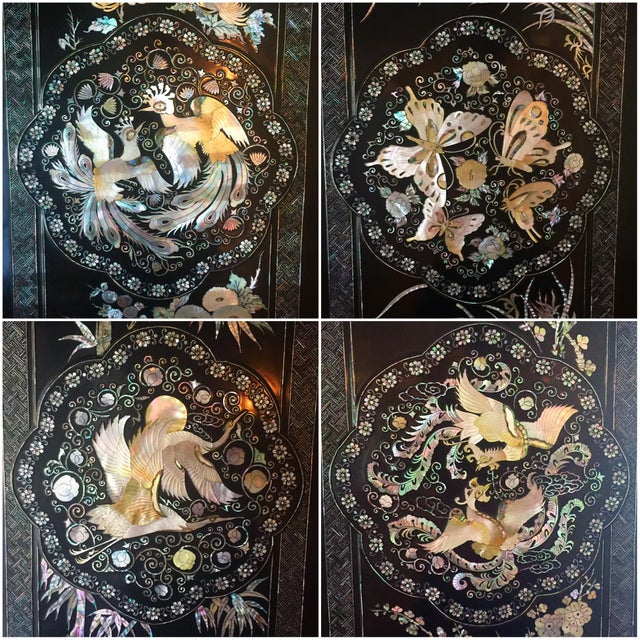 "1970's Asian Lacquer & Pearl ""Oshi-Ire"" Wardrobe Closet - Image 7 of 8"
