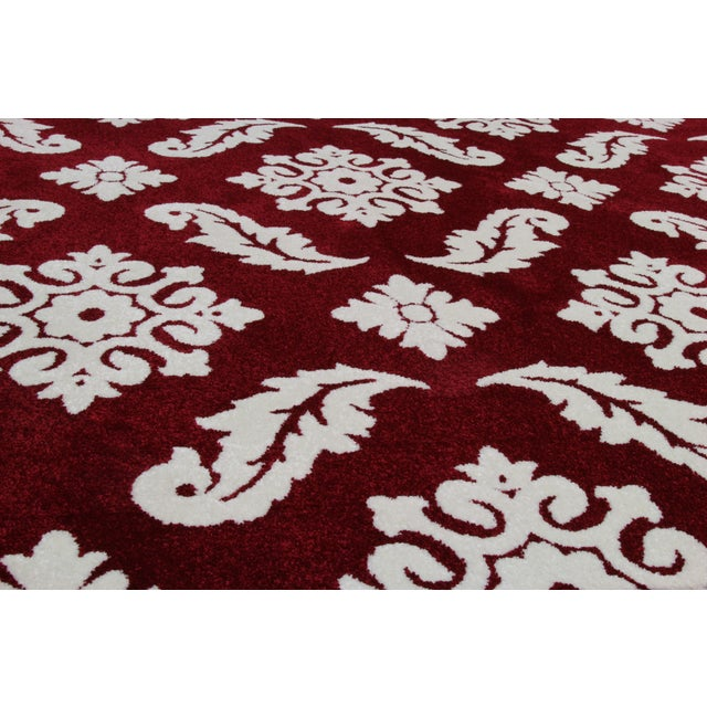 Transitional Red Trellis Rug - 3′ × 5′ - Image 3 of 4