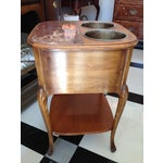 Image of French Louis XV Style Walnut Wine Table #639