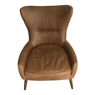 Erik West Elm Leather Wingback Chair