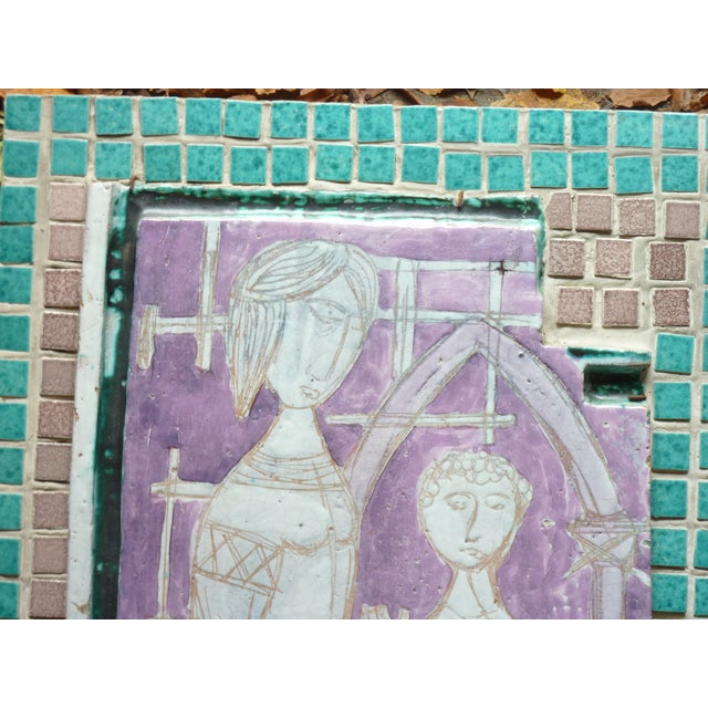 Image of Mother & Child Vintage Ceramic Picture