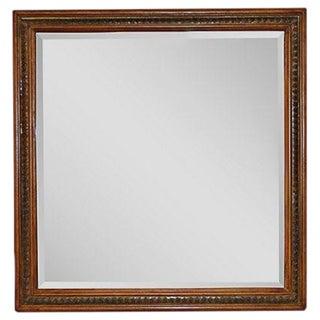 Vintage Square Wooden Mirror