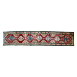 "Transitional Antique North West Persian Rug Runner - 3'7"" x 18'"