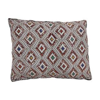 Ornate Diamond Pattern Moroccan Pillow
