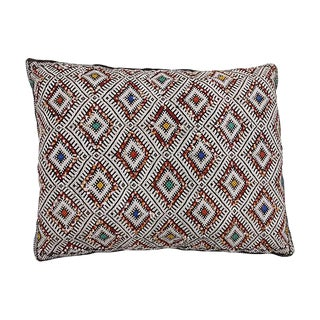 Ornate Diamond Pattern Moroccan Pillow