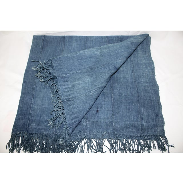 Vintage Mossi Indigo Throw/Textile - Image 2 of 5