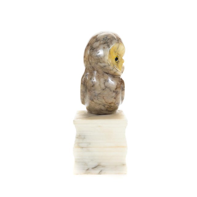 Vintage Alabaster Owl Bookends- A Pair - Image 5 of 9