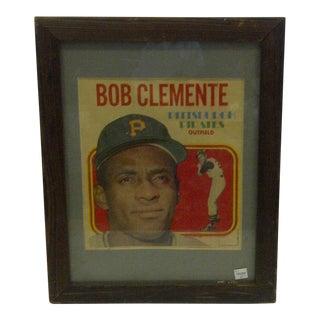 Vintage Framed Roberto Clemente Print