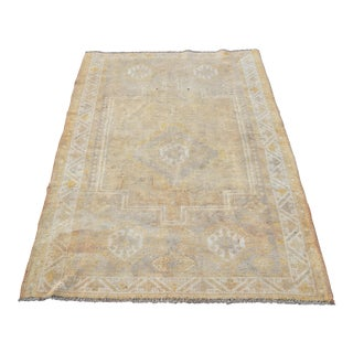 "Turkish Oushak Distressed Rug - 3'5""x5'1"""