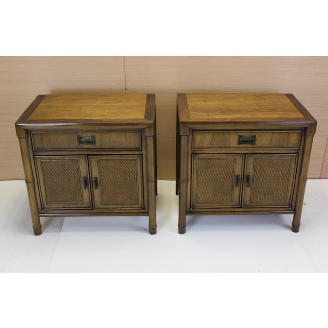 Mid-Century Campaign Style Nightstands - A Pair - Image 3 of 10