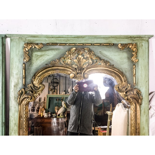 Gilded Antique French Mirrors - A Pair - Image 3 of 4